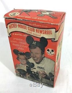 1950 Disney Newsreel Mickey Mouse Club Mattel Projector + videos + music Record