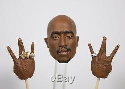 1/6 scale figure Tupac Shakur 2Pac painted Head and hand set