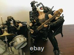 2000 McFarlane Kiss Alive Full Band Set of 4 Action Figures Plus all accessories