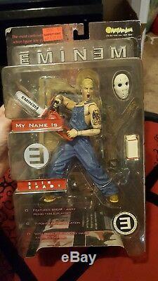 2001 Eminem Slim Shady Action Figure Toy Art Asylum Chainsaw Mask