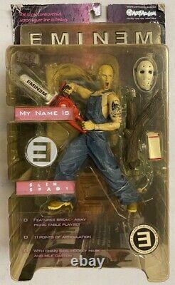 2001 Eminem Slim Shady Action Figure Toy Chainsaw Art Asylum Marshall Mathers