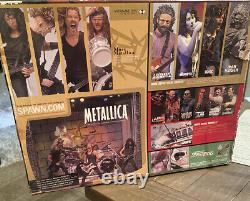 2001 McFarlane Toys Metallica (Harvesters Of Sorrow) Action Figures With Stage