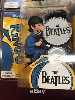 2004 McFarlane The Beatles 1965 Morning Cartoon Figures Full Set Unopened NIP