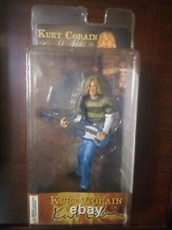 2006 NECA Kurt Cobain Nirvana Fender MUSTANG Guitar Action Figure SEALED