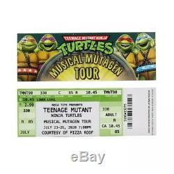 2020 SDCC NECA TMNT MUSICAL MUTAGEN TOUR 4 PACK 1990 MOVIE CONFIRMED Size XXL