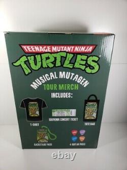 2020 Sdcc Neca Tmnt Musical Mutagen Tour 4 Pack & Accessory Pack (xl) Bundle