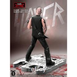 2 X SLAYER STATUE KISS HARD ROCK ICONZ METAL FIGURE Kerry King Tom Araya guitar