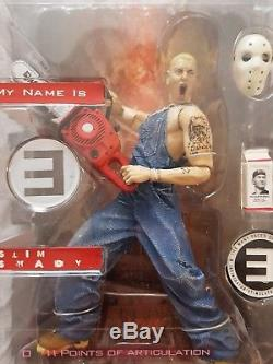 3x Eminem 1x'Slim Shady' Action Figure Art Asylum 2001 Music Memorabillia