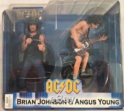 AC/DC- Brian Johnson & Angus Young Special Edition Action Figure Set NIB 2007