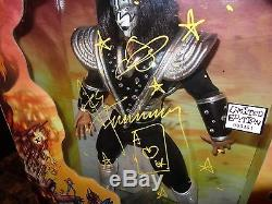 Ace Frehley Rare Signed Limited Edition KISS Destroyer 24 Action Figure Doll +