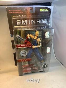 Art Asylum Eminem Deluxe Figure, My Name Is Slim Shady Chainsaw Hockey Mask 2001