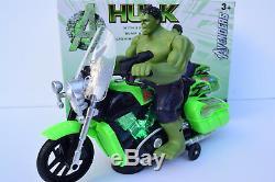 Avengers Hulk Figure & Motorbike Flashing Light & Music Sound Bump N Go