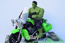 Avengers Hulk Figure On Motorbike Music Sound & Lights Bump N Go