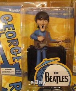 Beatles Saturday Morning Cartoon Collectible Figure Complete Set Mcfarlane New
