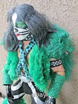 Custom 24 Inch KISS Dynasty Peter Criss Catman Asylum Action Figure Doll Loose