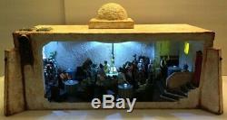 Custom Star Wars Mos Eisley CANTINA DIORAMA for 3.75 figures! PLAYS MUSIC +