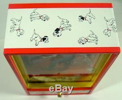 Disney 101 Dalmatians Music Box Windup Animated 3D Wind-Up Video Rare