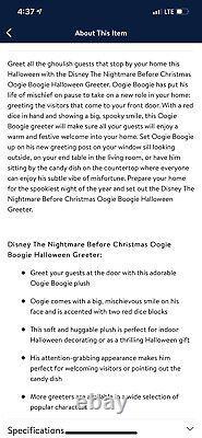 Disney Door Greeter Nightmare Before Christmas Oogie Boogie Plush 22 Stand Up