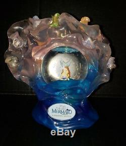 Disney RARE Little Mermaid Broadway Musical Light Up Snow Globe 2008 WORKS HTF