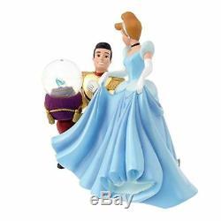 Disney Store Princess Cinderella Prince glass shoes Snow Globe Figure Music Box