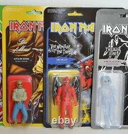 EDDIE Iron Maiden ALL 7 figures from WAVE 2 Super 7 ReAction 3.75 Figure NEW