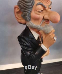EDDY MITCHELL dit SCHMOLL caricature statue statuette collector chanteur rock