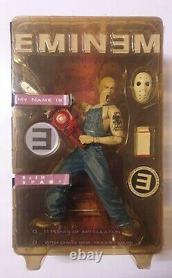 EMINEM / SLIM SHADY RARE 16CM CHAINSAW VARIANT Action Figure Art Asylum 2001 NIB