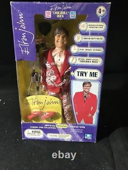 Elton John Singing Crocodile Rock Doll Action Figure New in Box