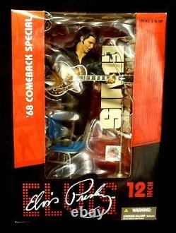 Elvis Presley 12 Inch 1968 Comeback Box Figure McFarlane Toys Amricons