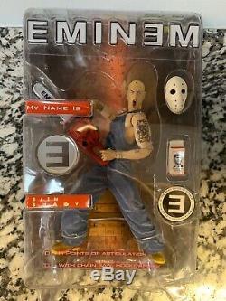 Eminem Action Figure My Name Is Slim Shady Chainsaw Hockey Mask 2001 Art Asylum