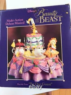 Enesco Disney Beauty and the Beast Figure Music Box Multi action deluxe musical