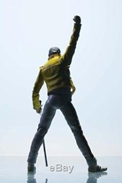 Freddie Mercury Action Figure Singing Toy Music Figurine Stunning Yellow Jacket
