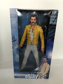 Freddie Mercury Queen 18 NECA Action Figure with Sound Rare Highly Collectable