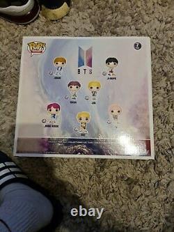 Funko Pop BTS 7 Pack Exclusive Set. Very Rare. V, Suga, Jung Kook, Rm, sealed