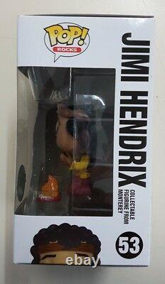 Funko Pop! Jimi Hendrix Monterey #53 Exclusive 3.75 Vinyl Figure New & Sealed