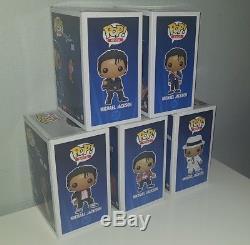 Funko Pop SET COMPLET 5 MICHAEL JACKSON + Box Protector RARE Very Good Conditi