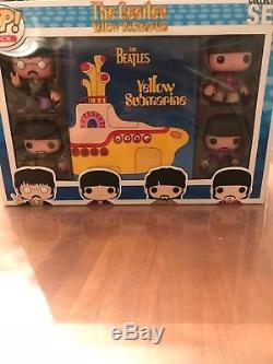 Funko Pop Vinyl THE BEATLES Yellow Submarine 4 Pack Figure Lot Never Opened