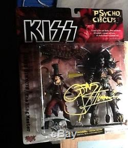 Gene simmons signed autograph McFarlane 7 Kiss figure COA