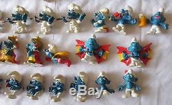 HUGE 94 Vtg Smurf Figures Peyo Schleich Sports Food Music Occupation Olympic LOT