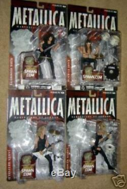 Harvesters of Sorrow Metallica Figure Set of 4 Individually Carded NOT Mint