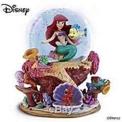 Inédit ARIEL la Petite Sirène DISNEY globe musical animé figurine/statue NEUVE