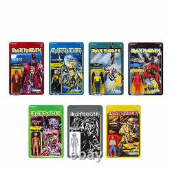 Iron Maiden Complete Set (7) ReAction Figures Wave 2 by Super7