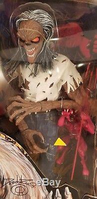 Iron Maiden Eddie Number of Beast Asylum Ultimate Series Figure 18 SIGNED DEREK