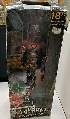 Iron Maiden NECA 18 Eddie Somewhere in Time Figure Rare New in Box Light Up Eye