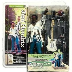 Jimi Hendrix McFarlane Toys Spawn. Com Figure 1969 Woodstock Fuzz Vibe