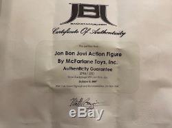 Jon Bon Jovi Action Figure Brand New 2007 McFarlane Toys Rare Signed with COA