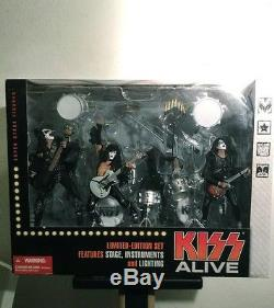 KISS ALIVE Deluxe Boxed Set Action Figures McFarlane Toys WOW