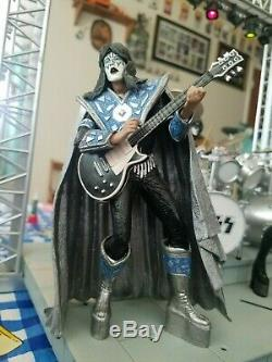 KISS Creatures lighted stage boxed set and figures with two extra guitars