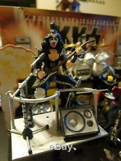 KISS alive ll super stage 3 3/4 figures modified with lightshow and speakers set
