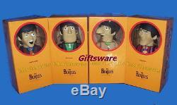 KUBRICK 400% Size The Beatles Yellow Submarin Action Figures 4-Pack (NIB)